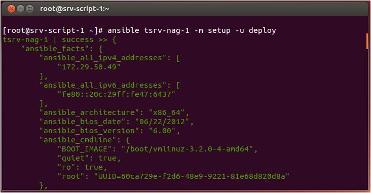 Ansible setup output